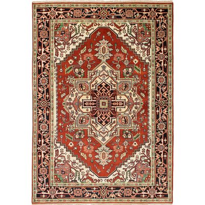 One-of-a-Kind Briggs Floral Hand Knotted Wool Dark Copper Area Rug