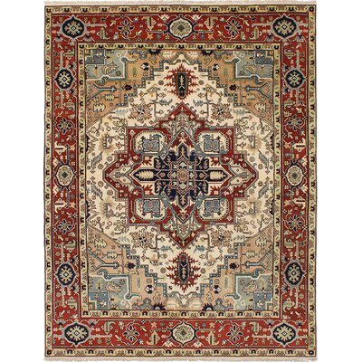 Briggs Hand Knotted Wool Cream/Dark Copper Area Rug