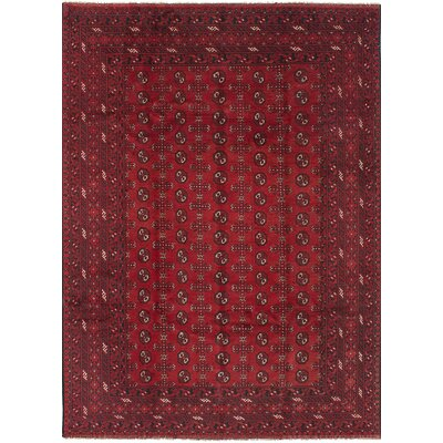 Bridges Traditional Southwestern Hand Knotted Wool Red Fringe Area Rug