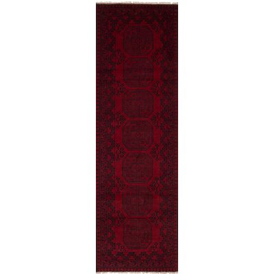 One-of-a-Kind Bridges Classical Hand Knotted Wool Red Area Rug