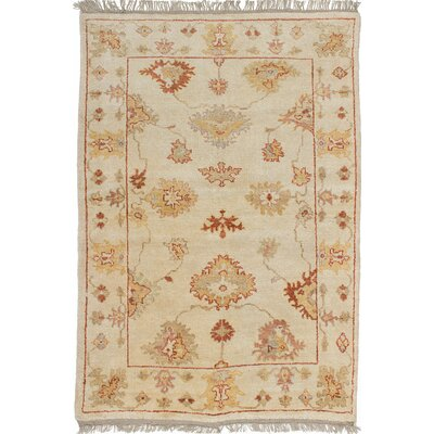 One-of-a-Kind Li Traditional Hand Knotted 100% Wool Cream Area Rug