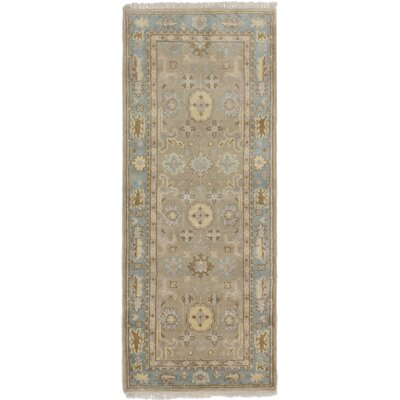Li Hand Knotted Wool Tan Area Rug
