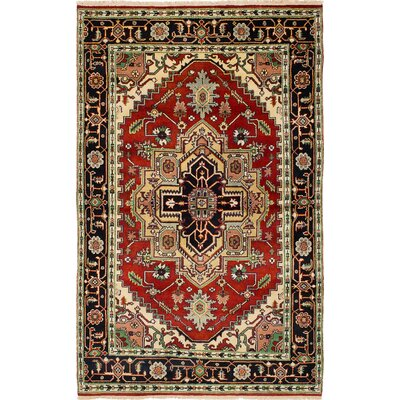 Briggs Hand Knotted 100% Wool Red Area Rug