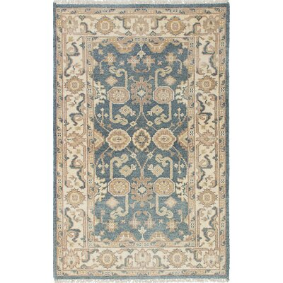 Li Traditional Hand Knotted Wool Cream/Dark Gray Area Rug