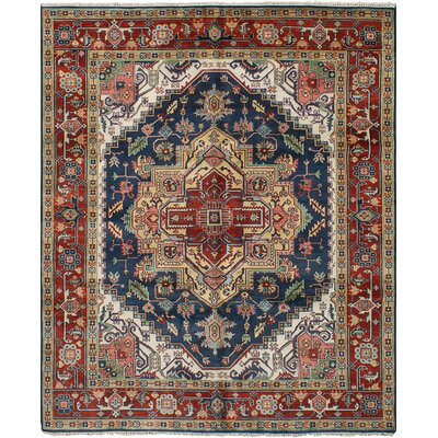 One-of-a-Kind Briggs Hand Knotted Wool Dark Navy Area Rug
