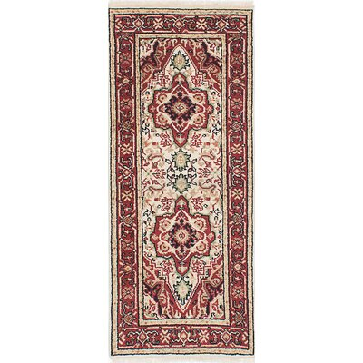 One-of-a-Kind Briggs Traditional Hand Knotted Wool Cream Area Rug