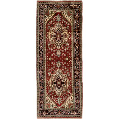 Briggs Traditional Hand Knotted Wool Red Area Rug