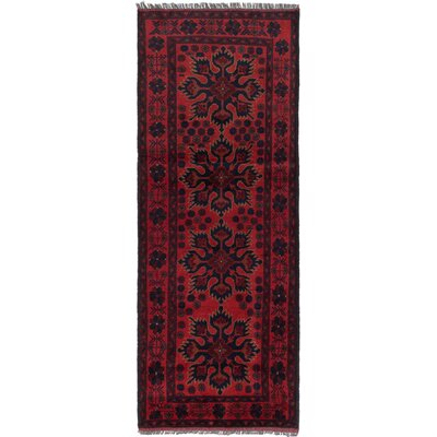 One-of-a-Kind Rosales Traditional Hand Knotted Runner Wool Red Area Rug