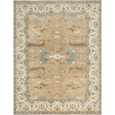 Li Hand Knotted Rectangular Wool Khaki Area Rug