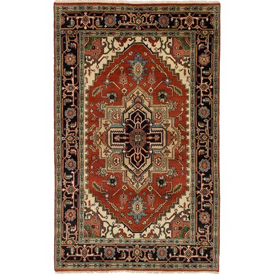 One-of-a-Kind Briggs Traditional Hand Knotted 100% Wool Red Area Rug