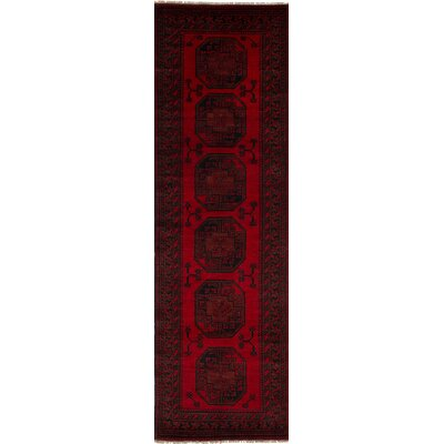 Bridges Traditional Hand Knotted Wool Red Area Rug
