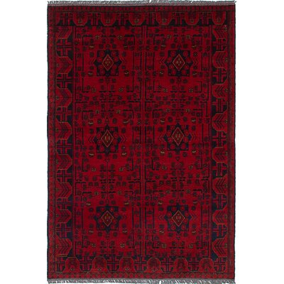 One-of-a-Kind Rosales Hand Knotted Rectangular Wool Red Area Rug