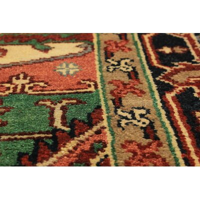 Briggs Hand Knotted Wool Dark Red Area Rug