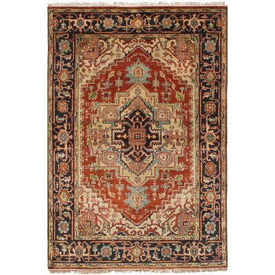 Briggs Hand Knotted Rectangle Wool Dark Copper Area Rug