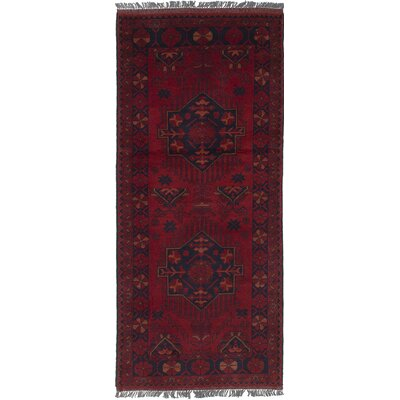 One-of-a-Kind Rosales Hand Knotted Runner Wool Red Area Rug