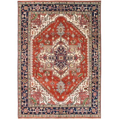 Briggs Hand Knotted Wool Copper/Dark Navy Blue Area Rug