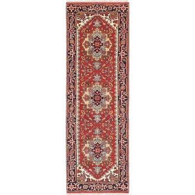 Briggs Hand Knotted Runner Wool Dark Copper Area Rug