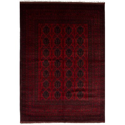 One-of-a-Kind Rosales Traditional Hand Knotted Rectangle Wool Red Area Rug