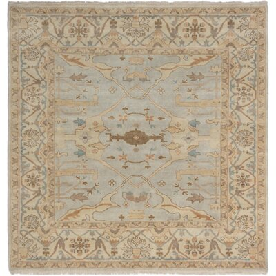Li Hand Knotted Wool Light Gray Area Rug