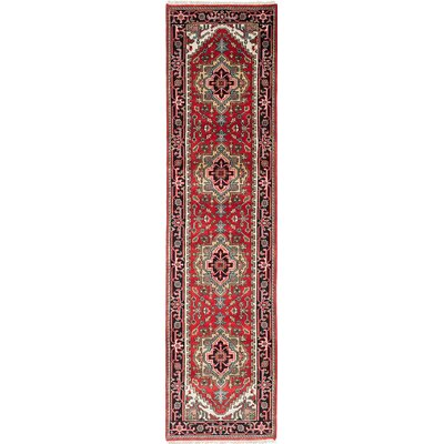 Briggs Geometric Hand Knotted Runner Wool Dark Copper Area Rug
