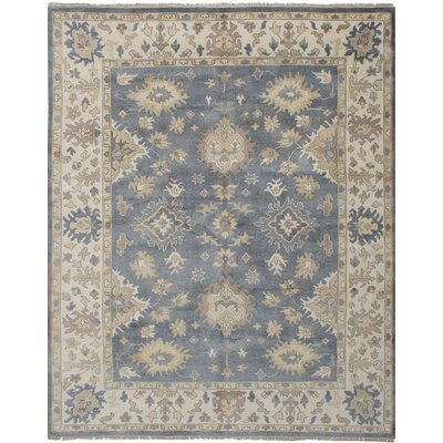 Li Hand Knotted Wool Dark Gray Area Rug