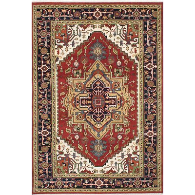 Briggs Hand Knotted Wool Dark Burgundy Area Rug