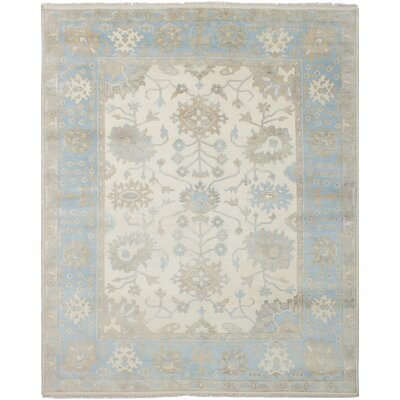Li Hand Knotted Wool Cream Area Rug