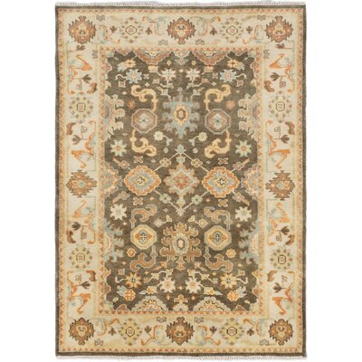 Li Hand Knotted Wool Cream/Olive Area Rug
