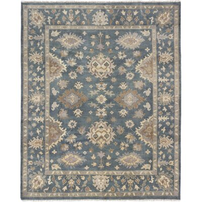 Li Hand Knotted Rectangle Wool Turquoise Area Rug