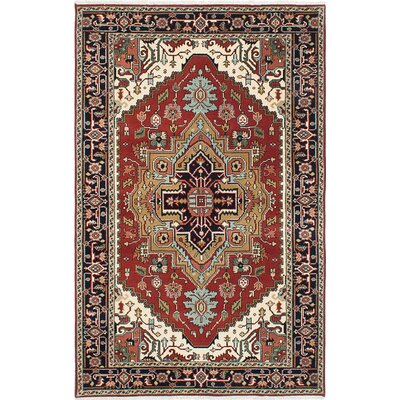 One-of-a-Kind Briggs Traditional Hand Knotted Wool Dark Copper Area Rug