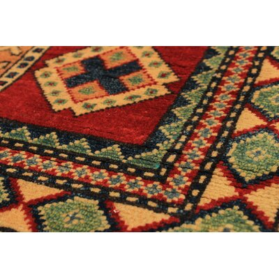 Bernard Traditional Hand-Knotted Weave Wool Rectangular Red Floral Indoor Area Rug