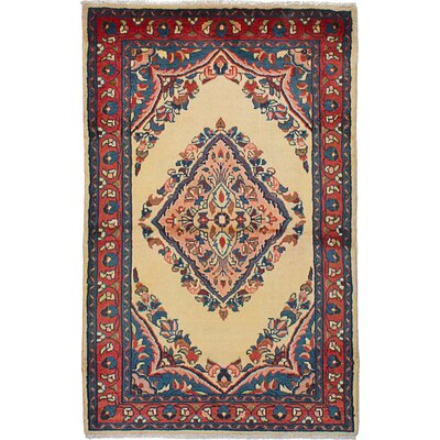 Shellburne Hand-Knotted Wool Rectangular Cream Indoor Area Rug