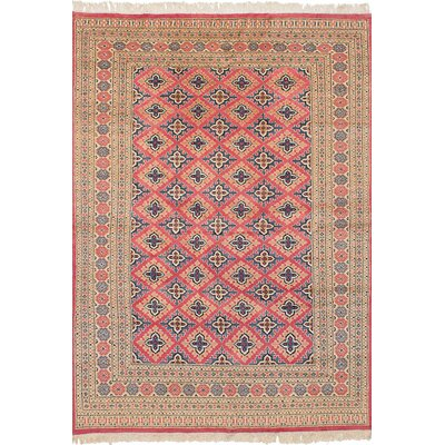 One-of-a-Kind Onondaga Hand-Knotted Wool Dark Pink/Beige Indoor Area Rug