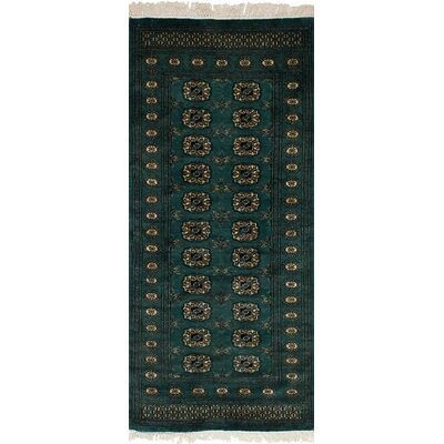 Olney Springs Hand-Knotted Wool Teal Indoor Area Rug