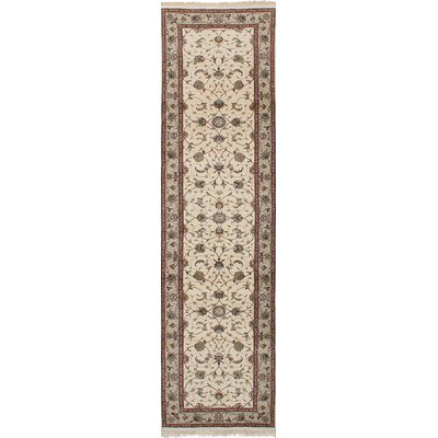 One-of-a-Kind Lacefield Hand-Knotted Cream Area Rug