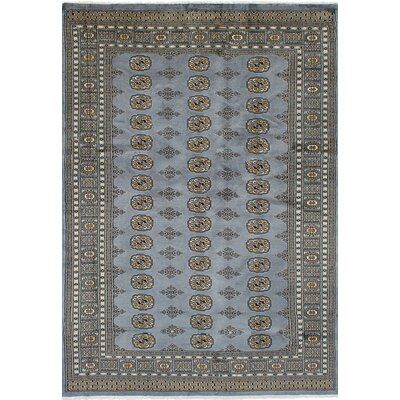 Olney Springs Hand-Knotted Wool Gray Indoor Area Rug