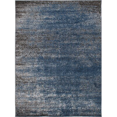 Ishaan Blue/Dark Gray Indoor Area Rug