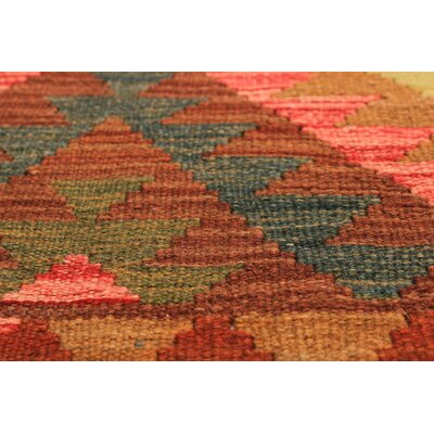 Olmsted Hand-Woven Wool Dark Brown/Light Red Indoor Area Rug