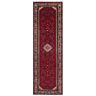 One-of-a-Kind Roth Traditional Hand-Knotted Wool Red Indoor Area Rug