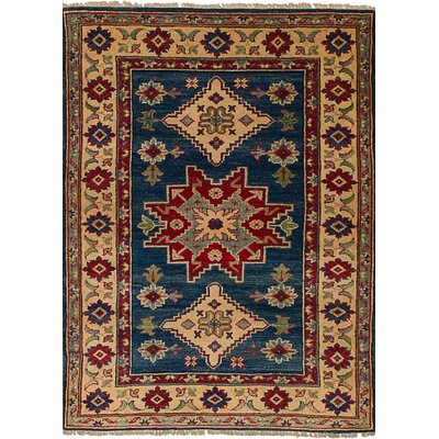 Bernard Hand-Knotted Wool Rectangular Navy Blue Indoor Area Rug