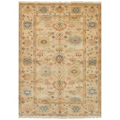 One-of-a-Kind Bassford Hand-Knotted Wool Ivory Area Rug