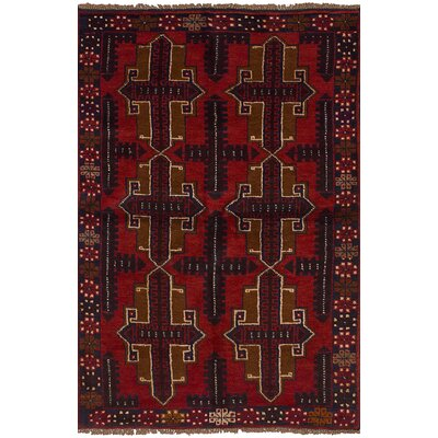 One-of-a-Kind Orrstown Hand-Knotted Wool Red/Blue Indoor Area Rug