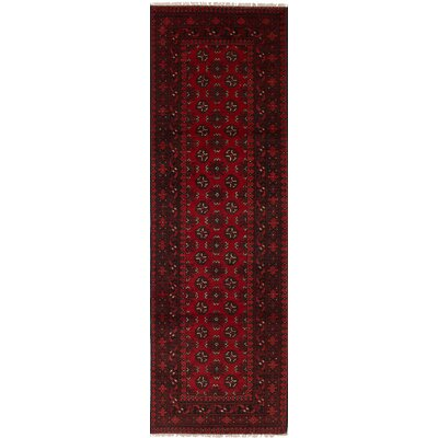 One-of-a-Kind Bridges Traditional Hand-Knotted Wool Red Indoor Area Rug