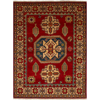 One-of-a-Kind Bernard Hand-Knotted Wool Dark Red Indoor Area Rug