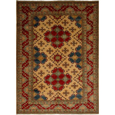 One-of-a-Kind Bernard Hand-Knotted Wool Cream Geometric Indoor Area Rug