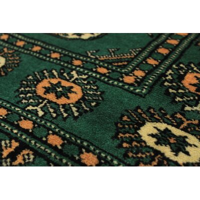 Onondaga Hand-Knotted Wool Green Indoor Area Rug