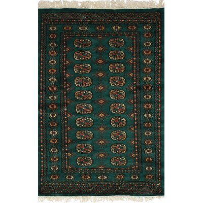 One-of-a-Kind Onondaga Hand-Knotted Wool Teal Indoor Area Rug