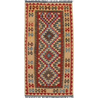 One-of-a-Kind Fianna Handmade Wool Red/Brown Area Rug