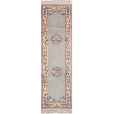 One-of-a-Kind Allen Park Hand-Knotted Wool Light Gray Indoor Area Rug