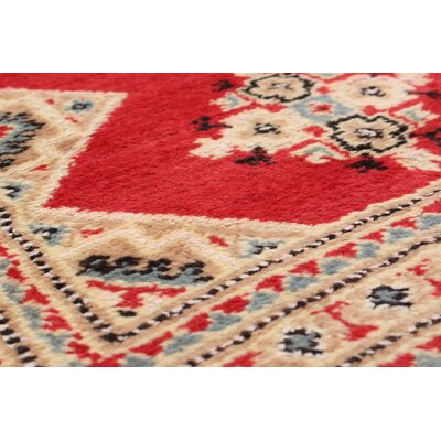 One-of-a-Kind Onondaga Hand-Knotted Wool Rectangular Red Indoor Area Rug